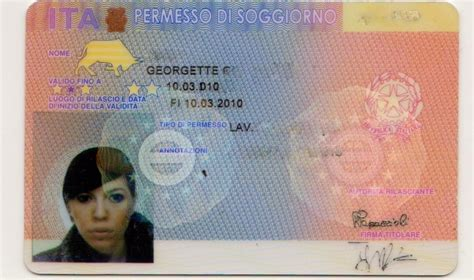 esame italiano per carta di soggiorno permesso di soggiorno elettronico parere garante privacy