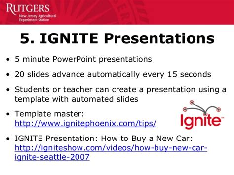 ignite powerpoint template 50 creative ways to teach personal finance 11 14