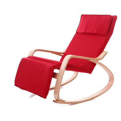 living room rocking chairs comfortable relax wood rocking chair with foot rest design