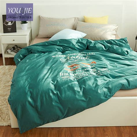 100 cotton comforter sets king 100 cotton plane bedding set bed sheet green duvet cover