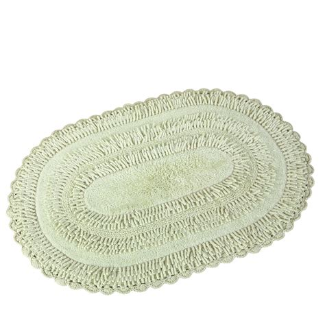 Oval Bathroom Rug by Reversible Tufted Chenille Oval Bath Rug Ebay