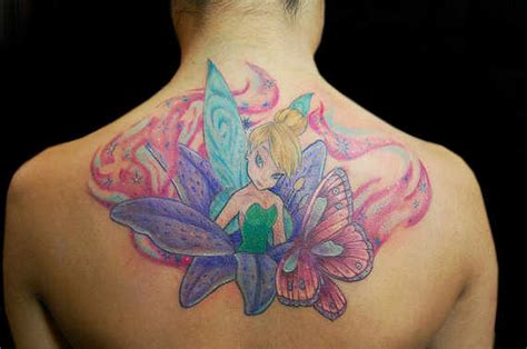 28 appealing fairy tinkerbell tattoos