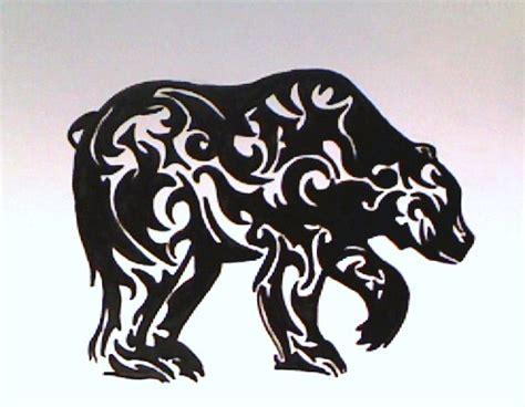tribal bear head tattoo tribal by scarlet trigger on deviantart