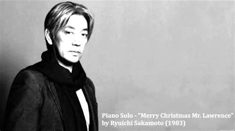 piano solo merry christmas  lawrence  ryuichi sakamoto youtube