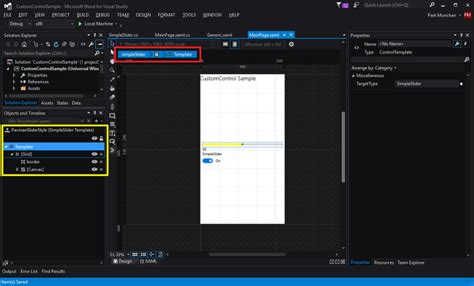 customizing ui layout in the visual editor custom control 만들기 part3 packman slider