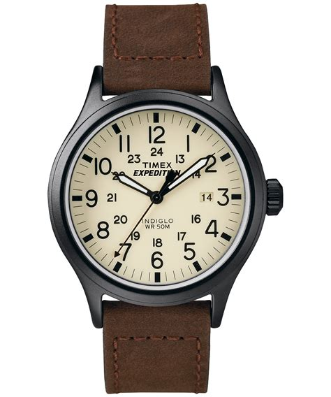 Expedition E6626m Time Leather Blrg expedition 174 scout metal global timex