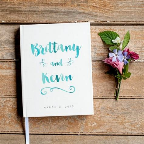 Wedding Gift Book by Wedding Guest Book Wedding Guestbook Custom Guest Book