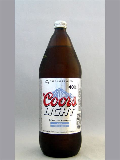 coors light glass bottle coors light 40oz bottle light lager