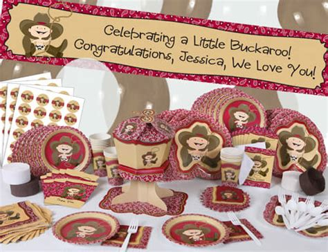 Western Themed Giveaways - cowboy themed baby shower items for western theme decorations baby shower ideas