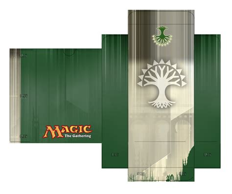 Magic Card Box Template by Selesnya Guild Deckbox Template By Lumberjacksquid On