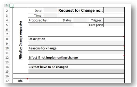 itil document templates itil and iso 20000 request for change why what and how
