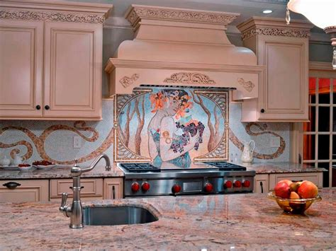glass mosaic kitchen backsplash 30 trendiest kitchen backsplash materials kitchen ideas