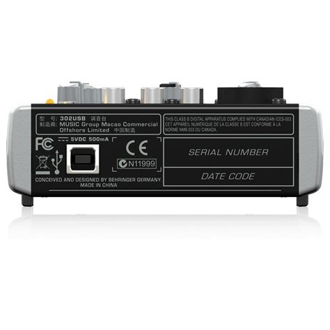 Mixer Behringer Xenyx 302 Usb behringer mixer usb e interfaccia audio xenyx 302 a
