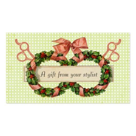 christmas greeting hair stylists hair salon stylist coupon gift card business card template zazzle