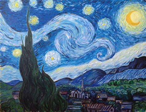 Starry Nights saatchi vincent gogh starry painting by