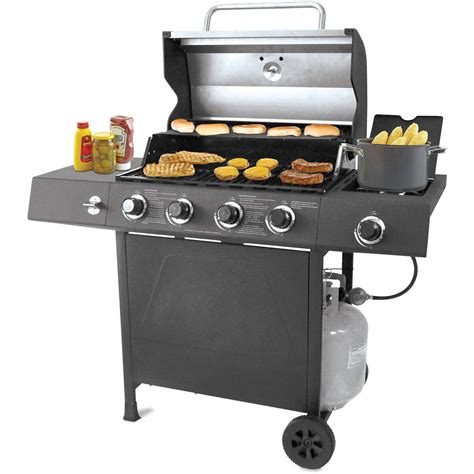 backyard gas grill gas grill 4 burner bbq backyard patio stainless steel