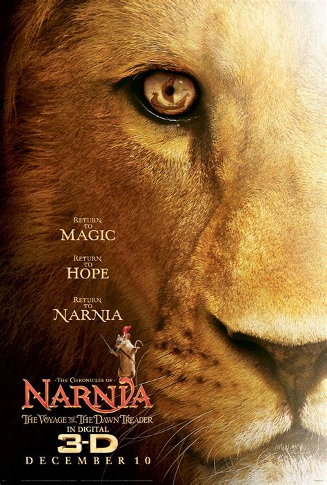 film narnia voyage of the dawn treader narnia 3 movie poster teaser trailer