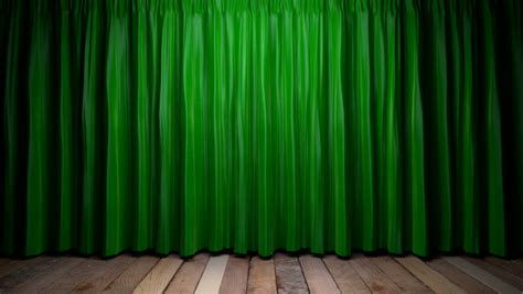 green screen curtain curtains opening and closing stage theater cinema green