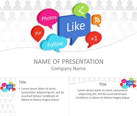 free social media powerpoint template social media bubbles powerpoint template templateswise