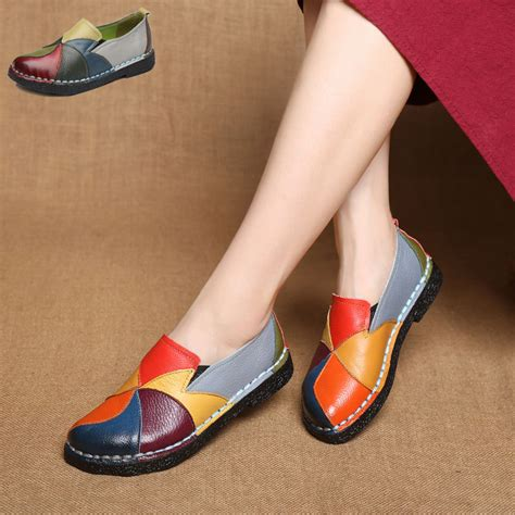 aliexpress buy handmade leather soft shoes national