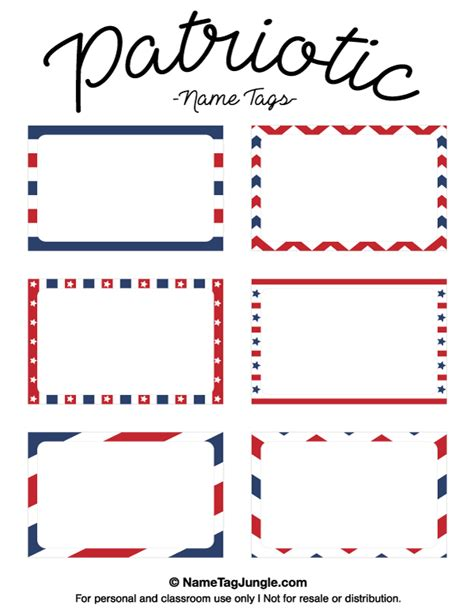 name the template free printable patriotic name tags the template can also