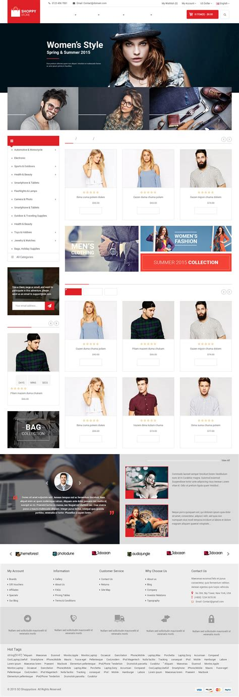 opencart themes clothing 15 best responsive opencart clothing theme 2017
