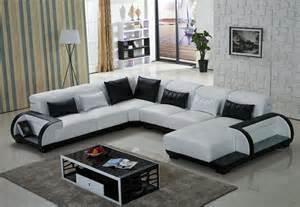 U Shaped Living Room Furniture by U Shape Sofa With Led Leather Sofa Living Room Sofa In