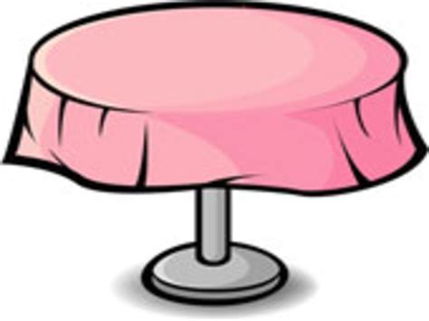 Table clipart dining set   Pencil and in color table