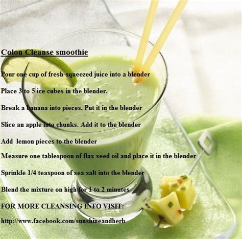 Colon Cleanse Detox Smoothie by Colon Cleanse Smoothie For More Cleansing Info Visit Http