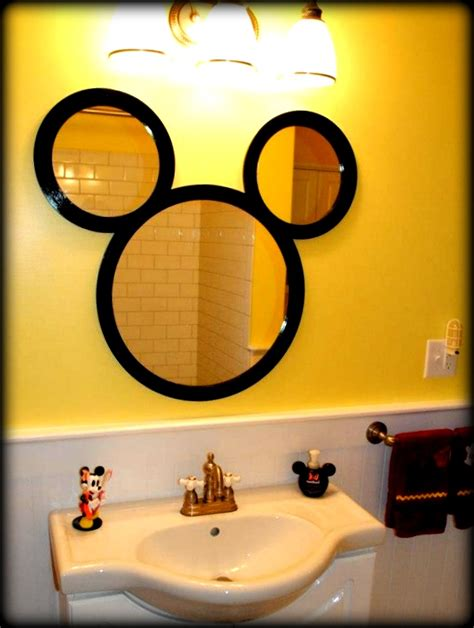 mouse in bathroom mickey mouse bathroom mirror homescorner com