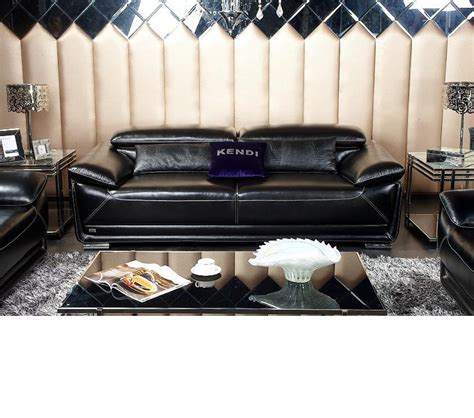 black italian leather sofa dreamfurniture com k8366 modern black italian leather