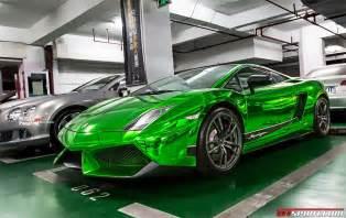 Chromed Lamborghini A Special Green Chrome Lamborghini Gallardo