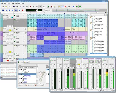 audio video layout software qtractor wikipedia