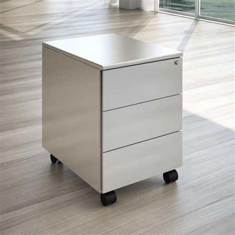 cassettiere per scrivania scrivania in cristallo con cassettiera linekit