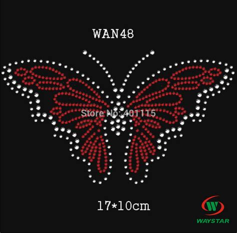 wan48 6 7 inches 30pcs lot rhinestone transfers iron on