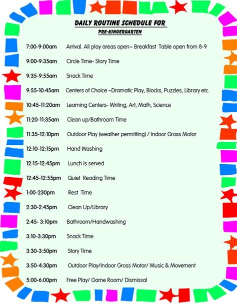 home daycare schedule template daily schedule for toddlers daily schedule for preschool