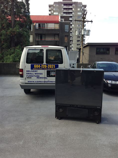 waste management couch pick up big screen tv tv removal and recycling vancouver sam