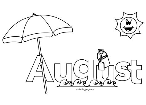 august coloring pages  kids coloring page