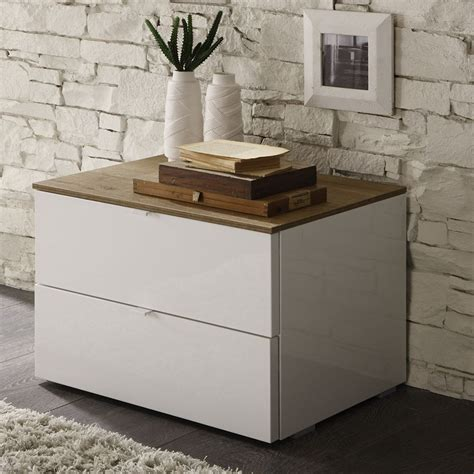 Table De Nuit Blanc by Table De Chevet Contemporaine
