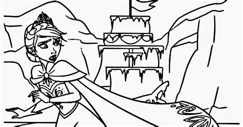 frozen coloring pages elsa castle downloads frozen coloring pages elsa castle