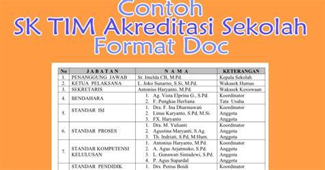 format buku kas osis contoh sk tim akreditasi sekolah format doc inspirasi guru