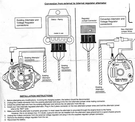 convert external regulator alternator wiring
