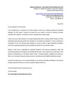Industrial Engineering Technician Cover Letter by Resume And Cover Letter