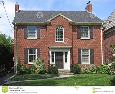 two story two story brick house stock photo image 44086070