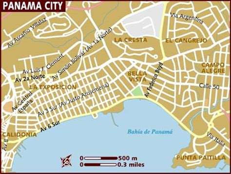 panama city map map of panama city