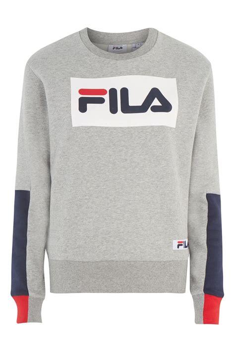 Fila Sweater Gloria White exclusive logo sweatshirt by fila topshop