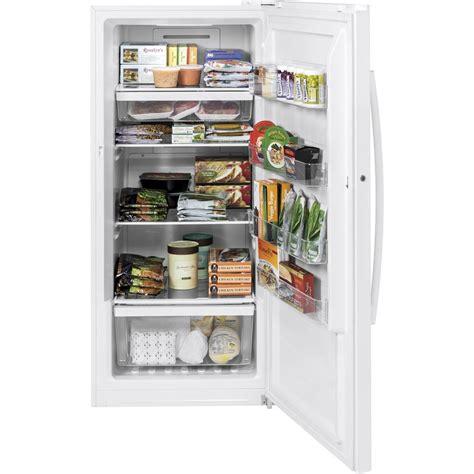 Standing Freezer Lg fuf14dlrww ge 14 1 cu ft free upright freezer