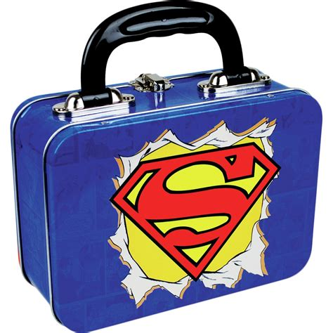 Lunch Bag Lapis Almunium new superman logo tin tote lunch box dc comics retro school metal gift lois 5060021930897