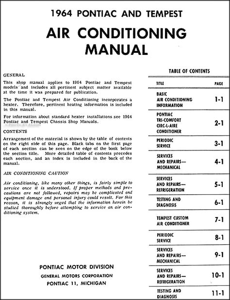 service manual auto air conditioning service 2000 pontiac sunfire regenerative braking 2000 1964 pontiac air conditioning repair shop manual reprint