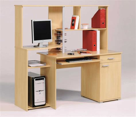 solid wood computer desk with hutch computer office desks for easy arrangement